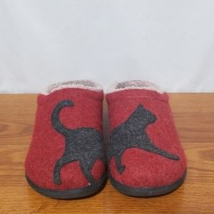 ll Bean Daybreak Scuff Wool Slipper Cat Design
